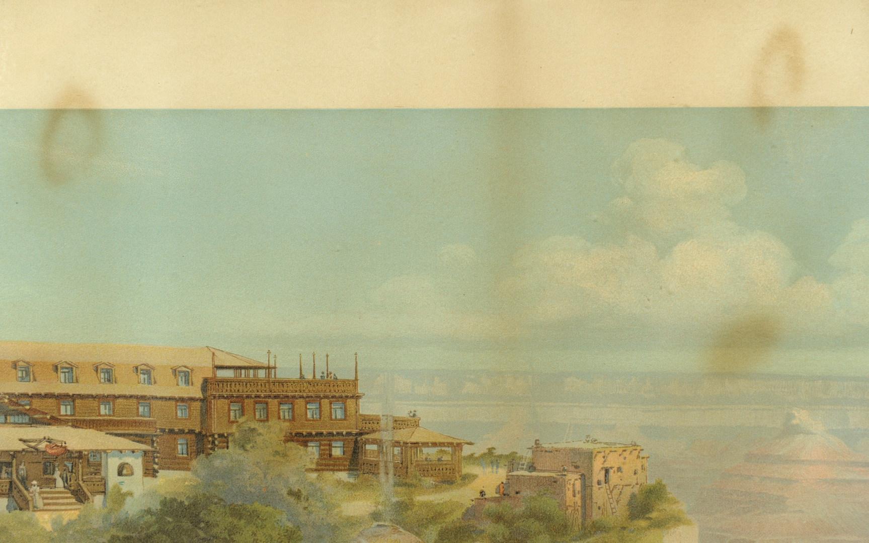 Lot 527: 1906 Grand Canyon chromolithograph, Santa Fe RR