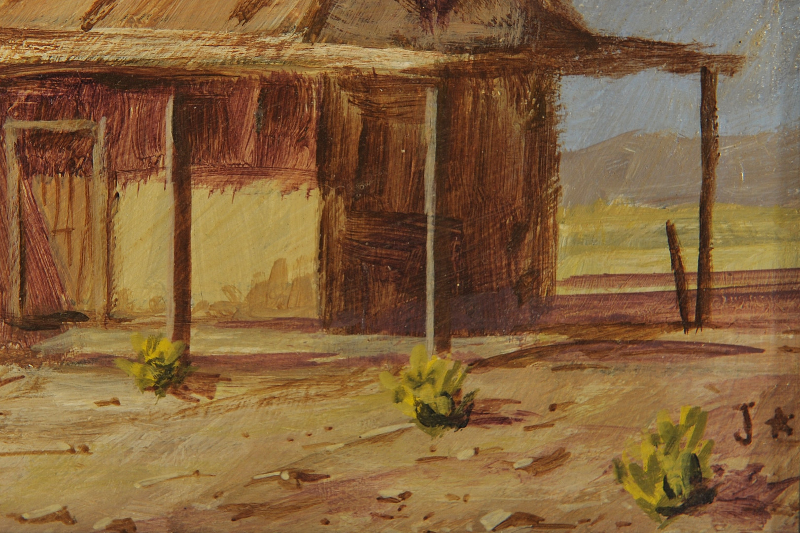 Lot 528: Pair of Southwestern scenes, oil on board