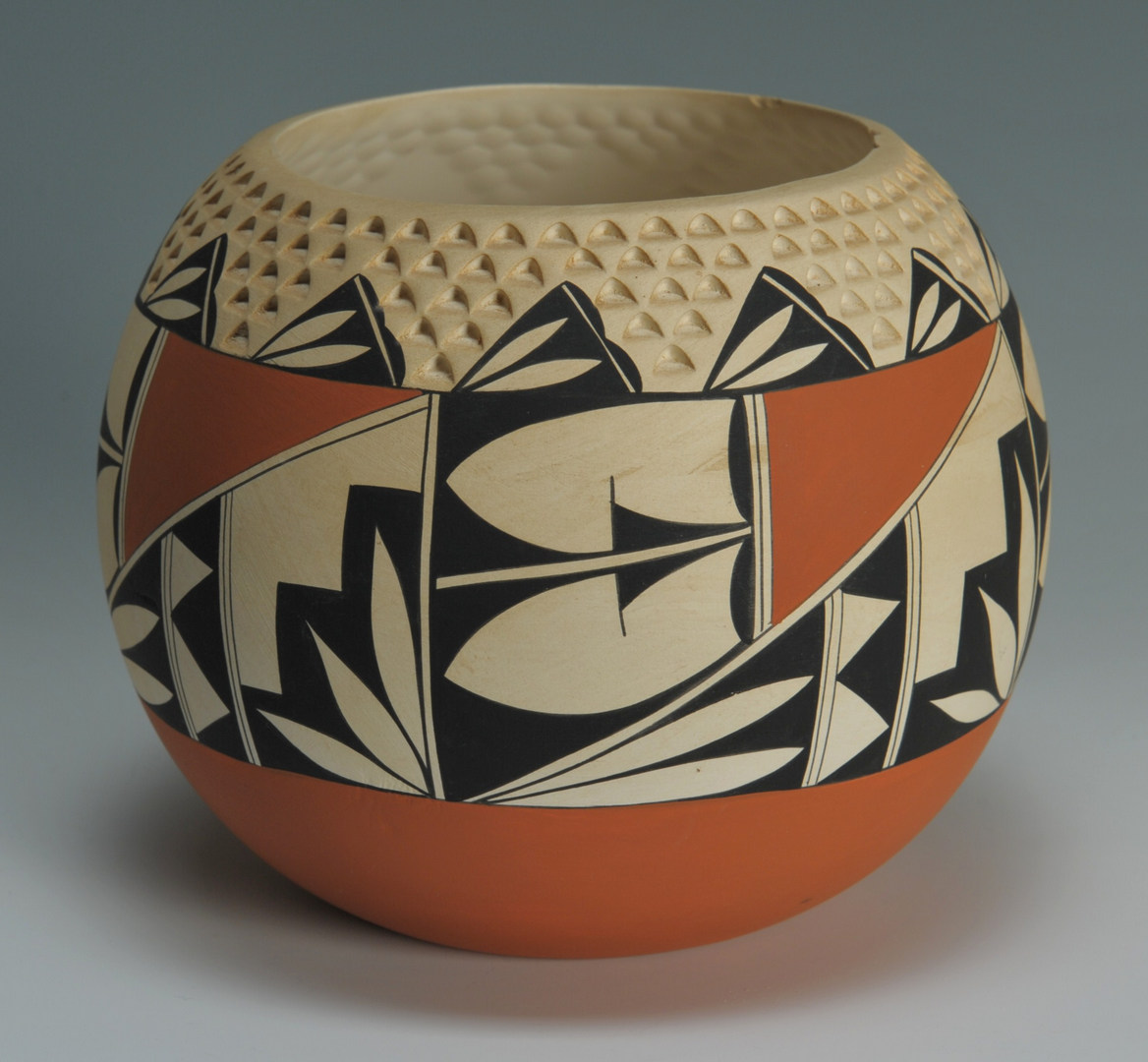 Lot 531: 3 pieces Isleta Pueblo Pottery, signed