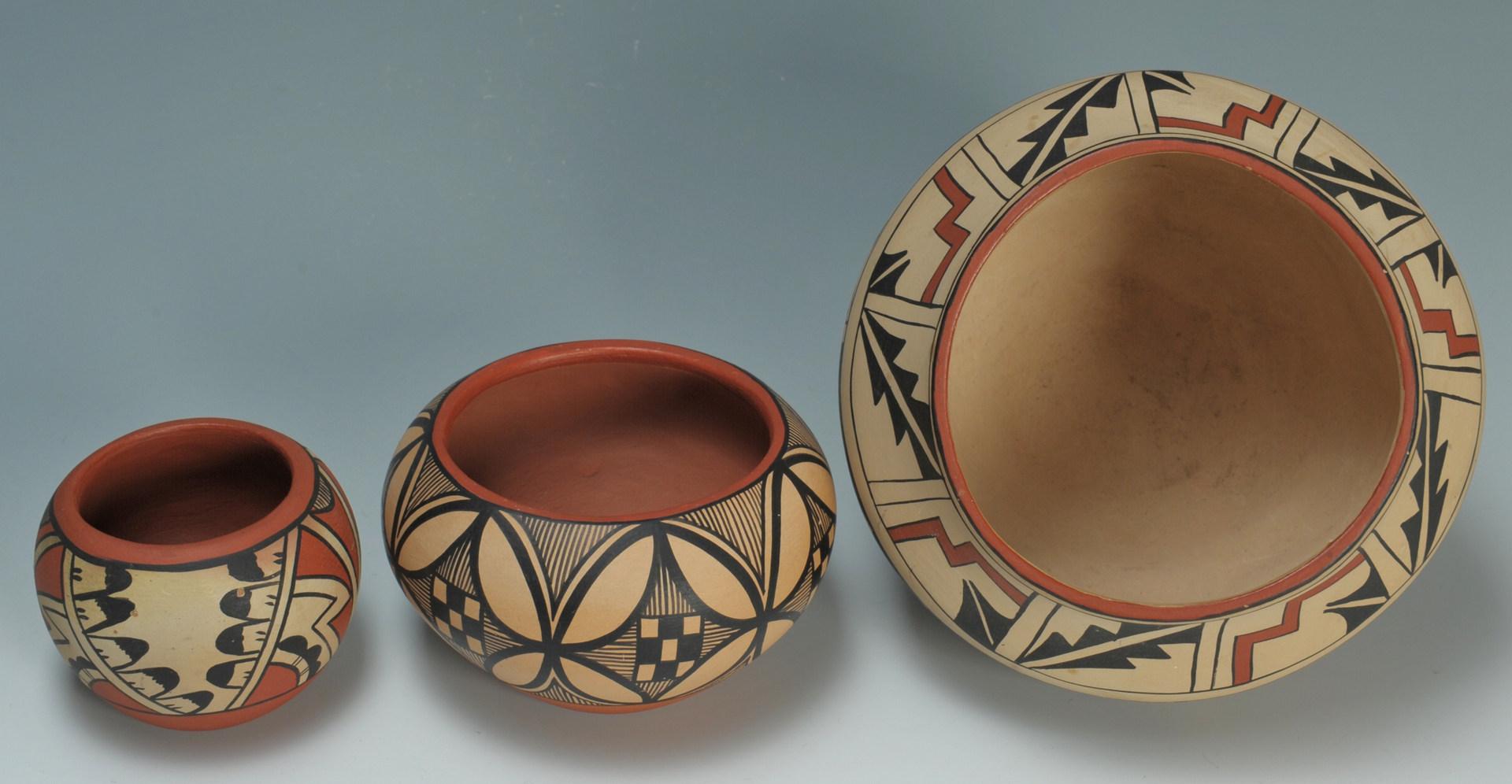 Lot 532: 4 pcs Jemez Pueblo Pottery, signed