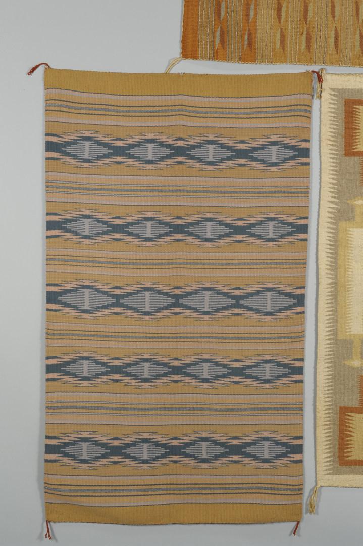 Lot 534: 3 Navajo Rugs: Storm, Crystal, Chinle