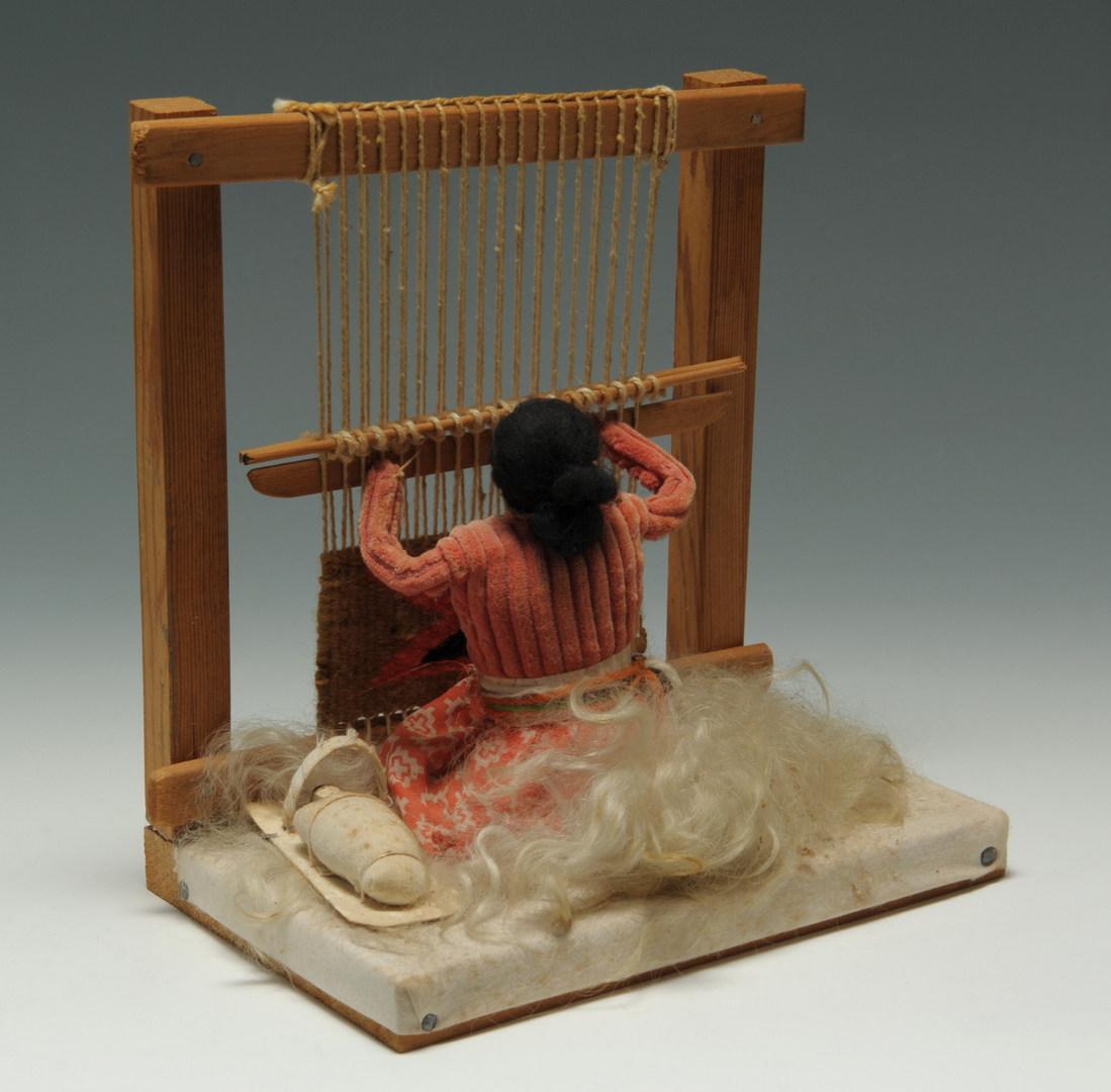 Lot 536: Miniature Native American Rugs and Kachinas
