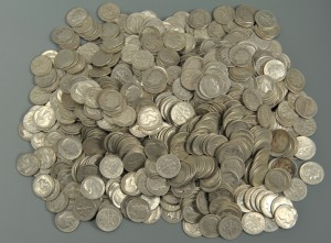 Lot 547: Grouping of U. S. Silver Roosevelt Dimes