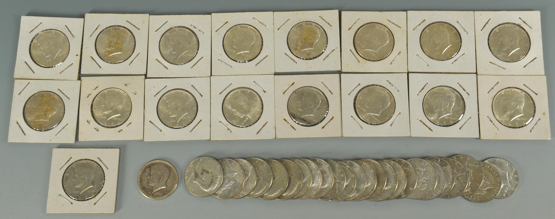 Lot 550: Grouping of U. S. Kennedy Half Dollars