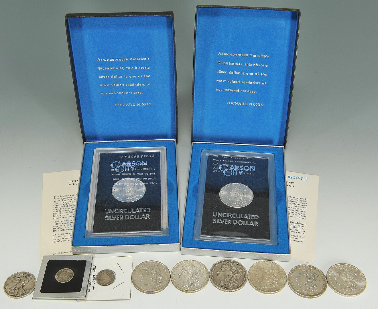 Lot 551: Assorted Grouping of U.S. Coins, inclu. Morgan