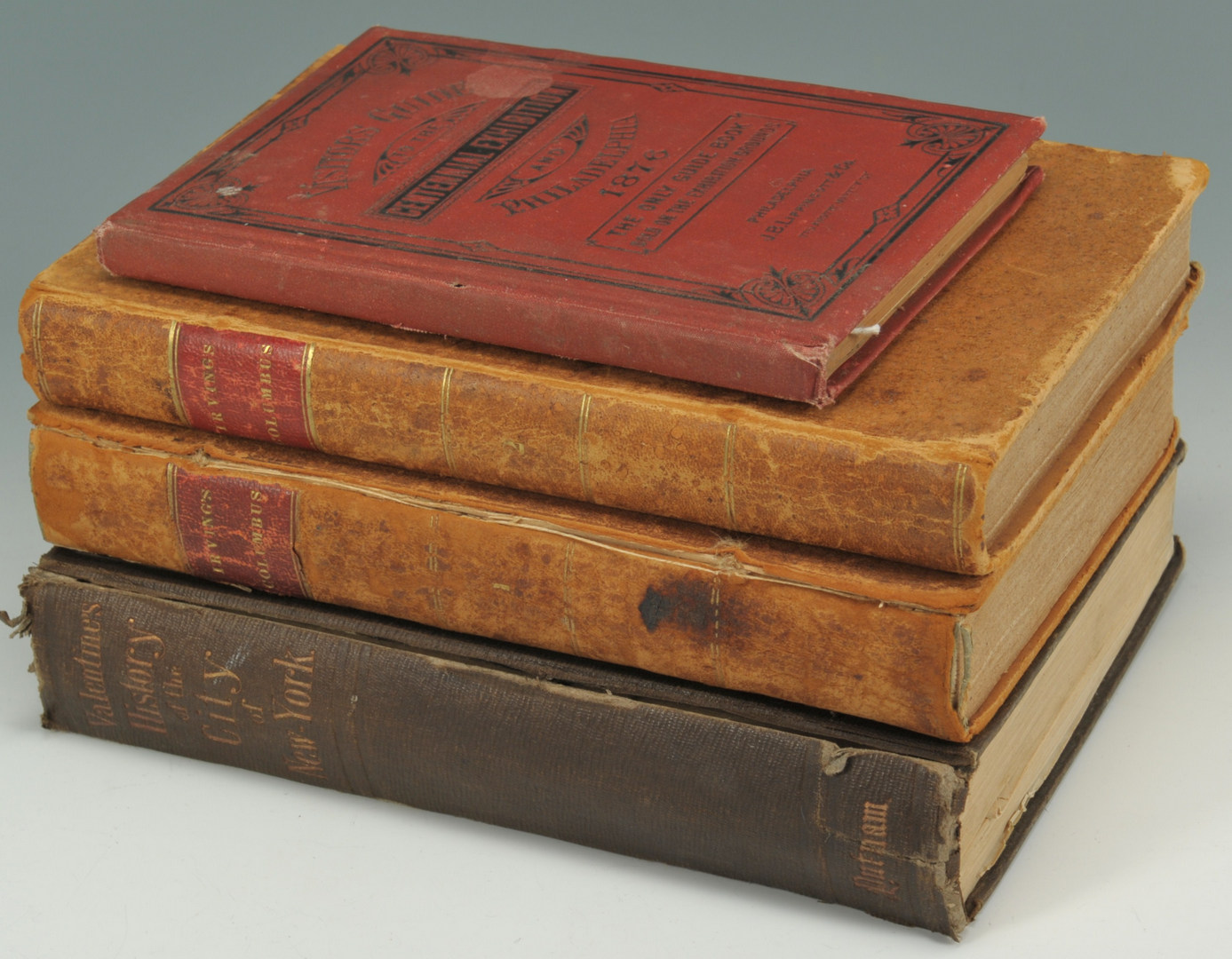Lot 553: 4 books: Columbus, NYC History, Centennial Exhibit