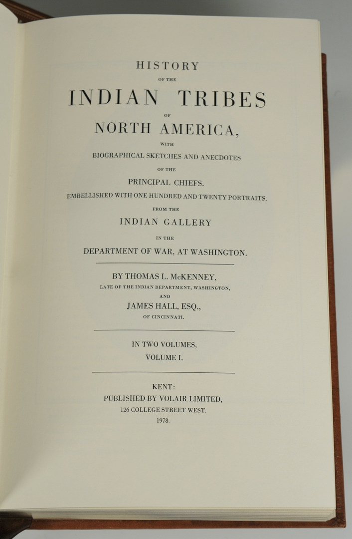 Lot 555: McKenney & Hall Indian Tribes of N. America, 2 Vol