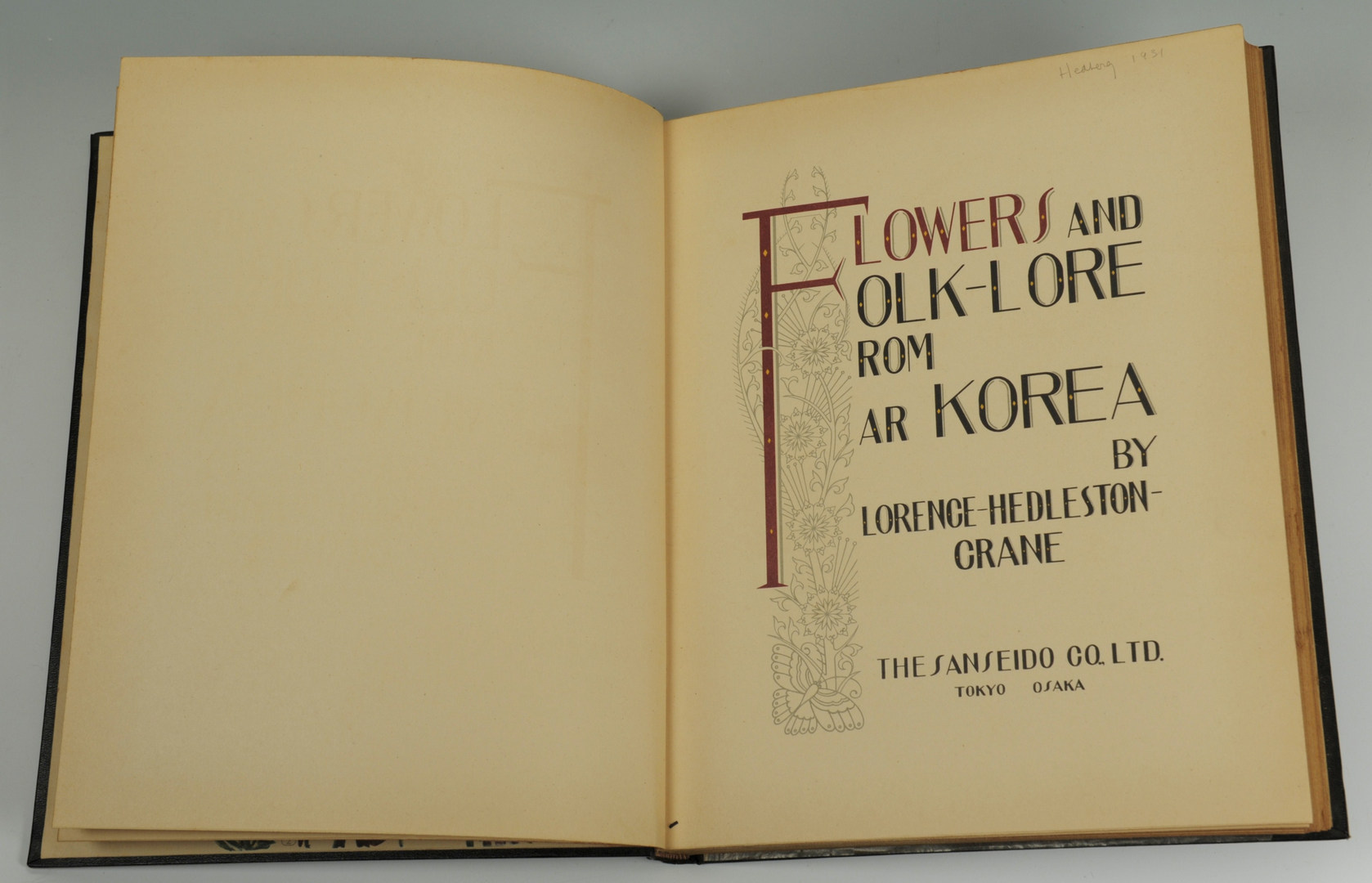 Lot 559: 2 Copies of Flowers & Folklore from Far Korea by