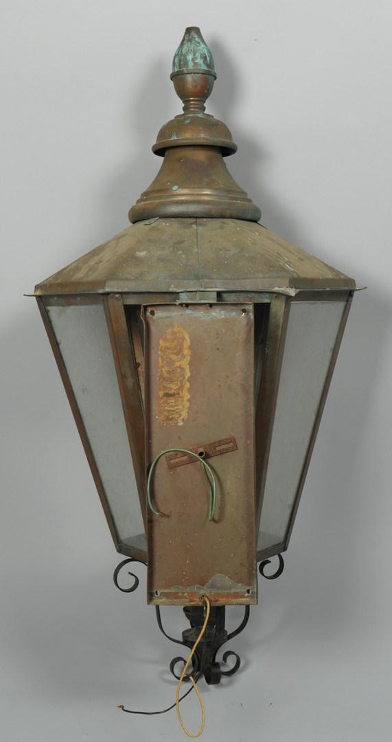 Lot 568: 2 Large Copper Lanterns, Kahalley of Alabama