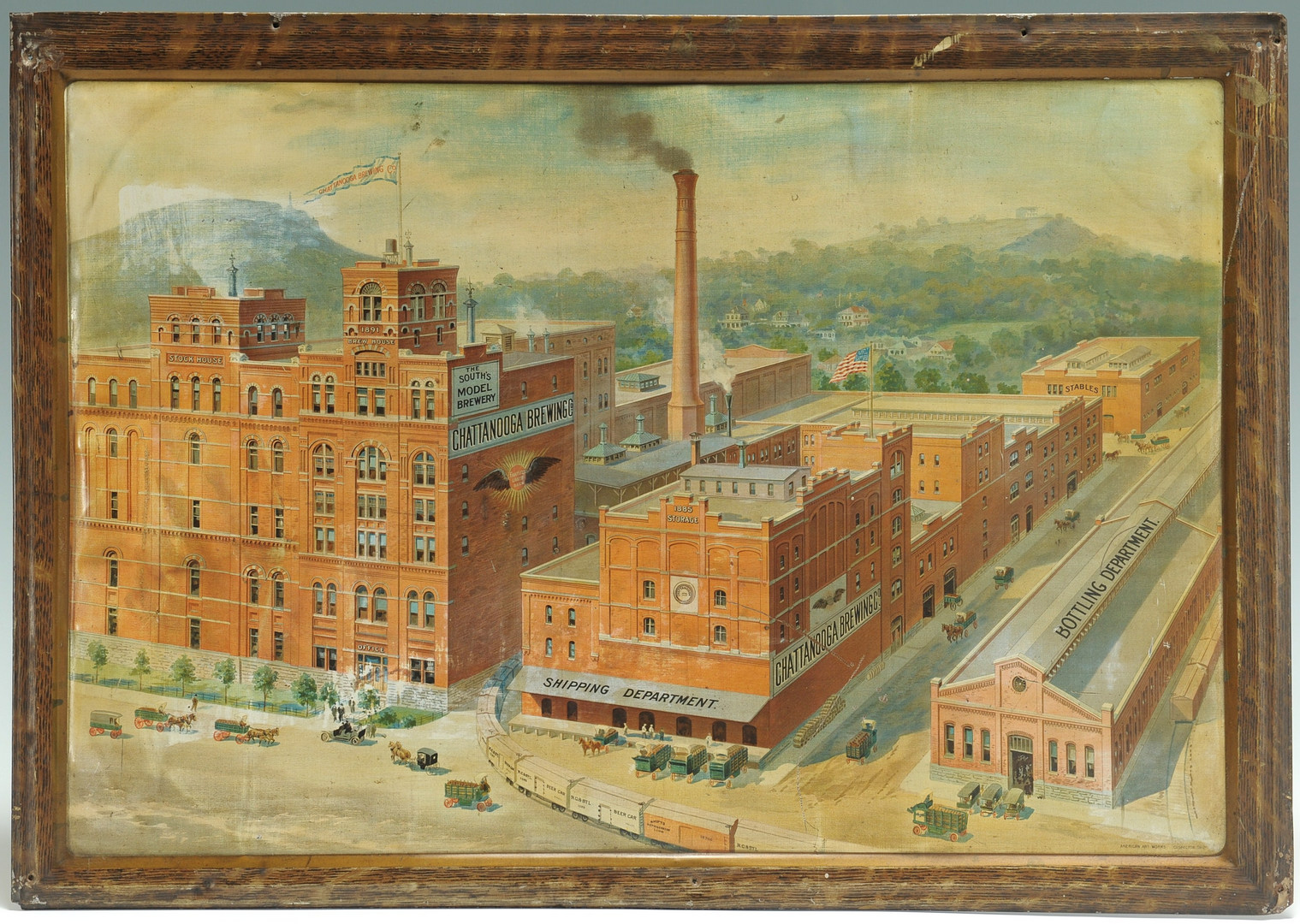 Lot 569: Chattanooga Brewing Company Ad Sign on Tin
