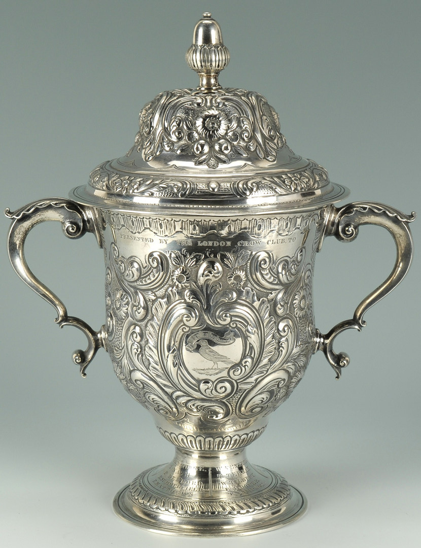 "Lot 56: T.D. Rice ""Jim Crow"" Silver Presentation Cup"