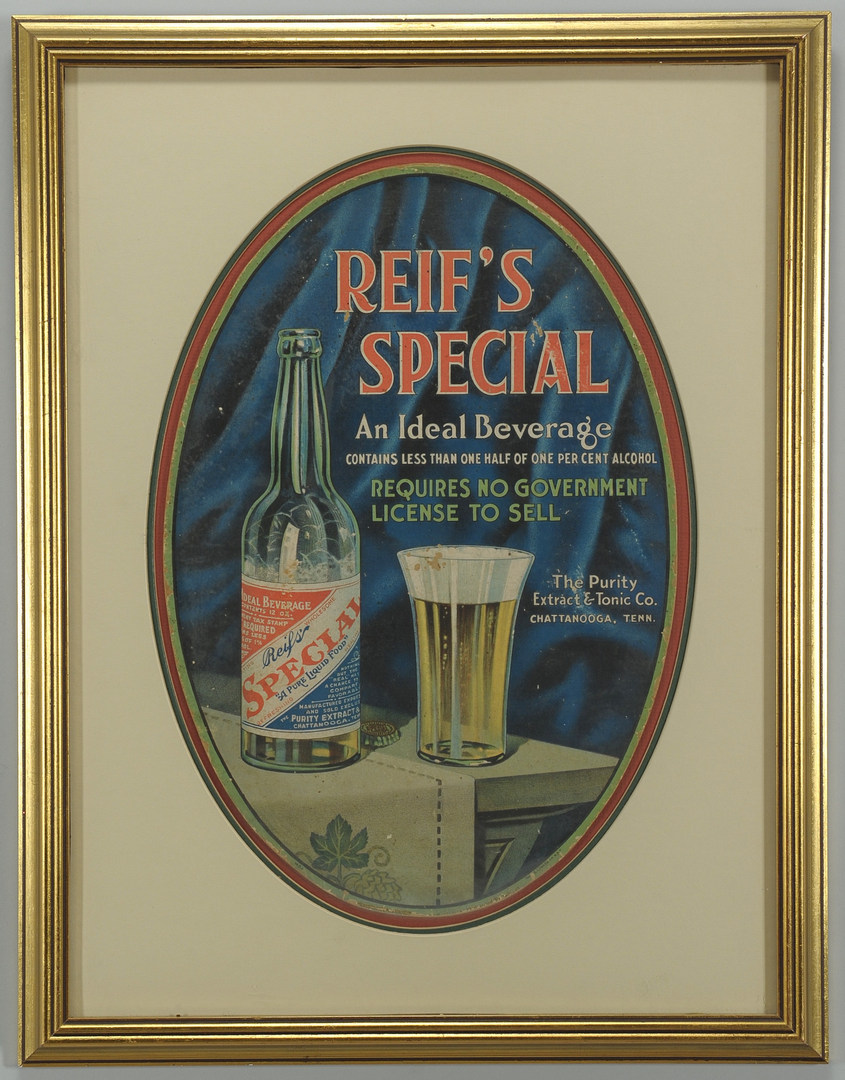 "Lot 572: ""Reif's Special"" Chattanooga, TN Advertising Litho"