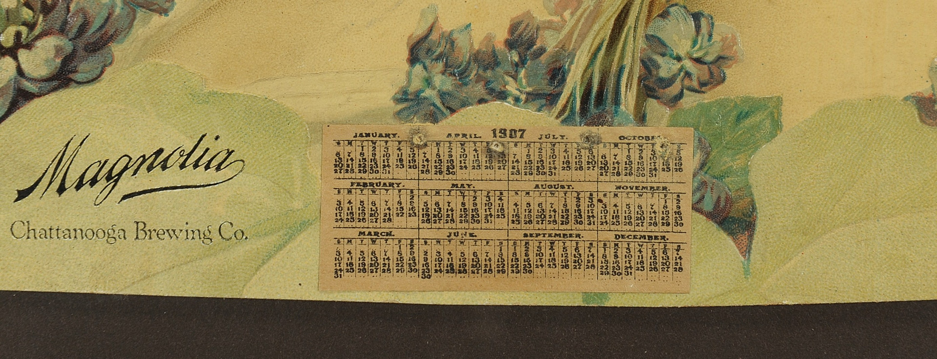 Lot 573: Framed 1907 Chattanooga Brewing Co. Calendar