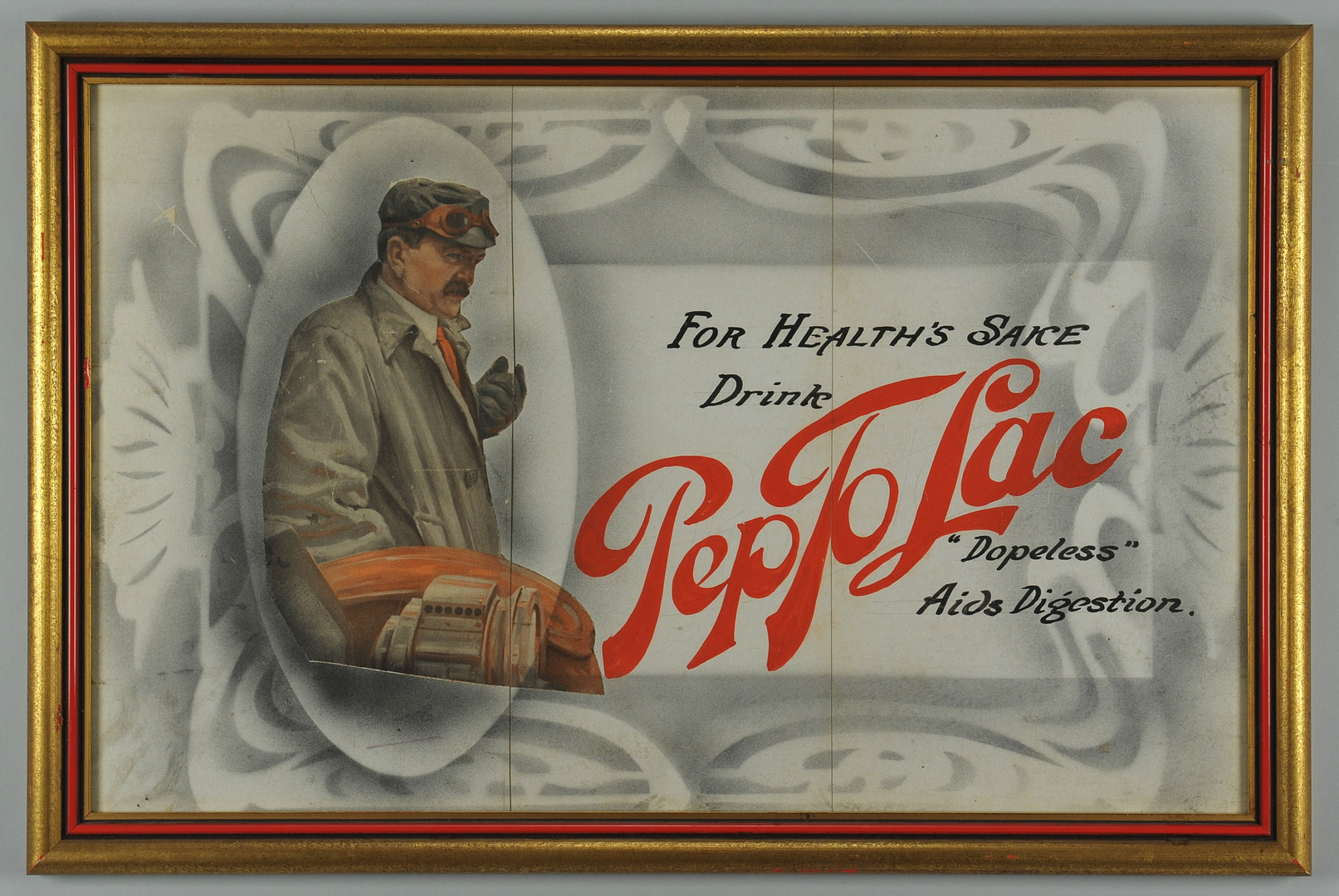 Lot 575: Pep to Lac Advertising Lithograph with ink