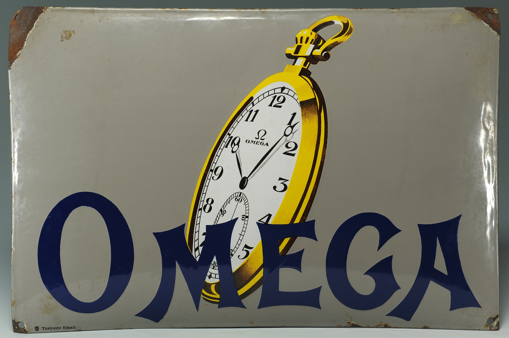 Lot 576: Omega Pocket Watches Advertising Sign