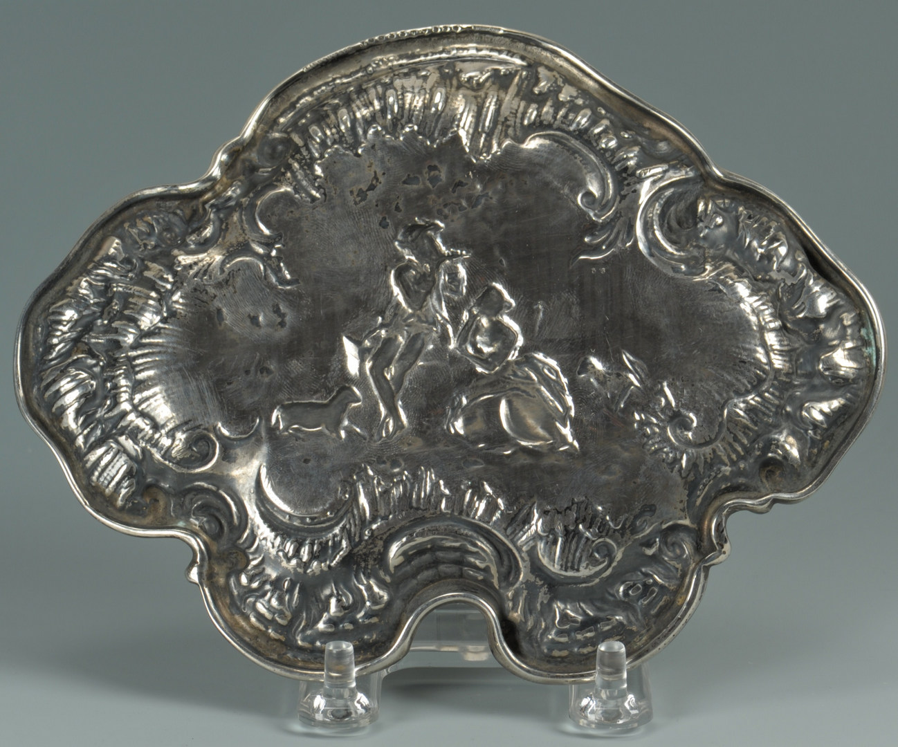 Lot 58: Tiffany and Co. Rococo Style Silver Card Tray