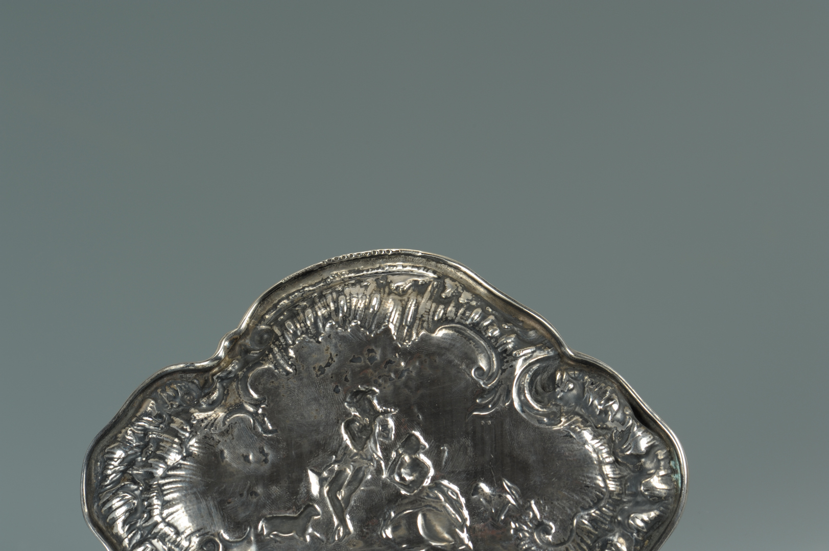 Lot 58: Tiffany and Co. Rococo Style Silver Card Tray