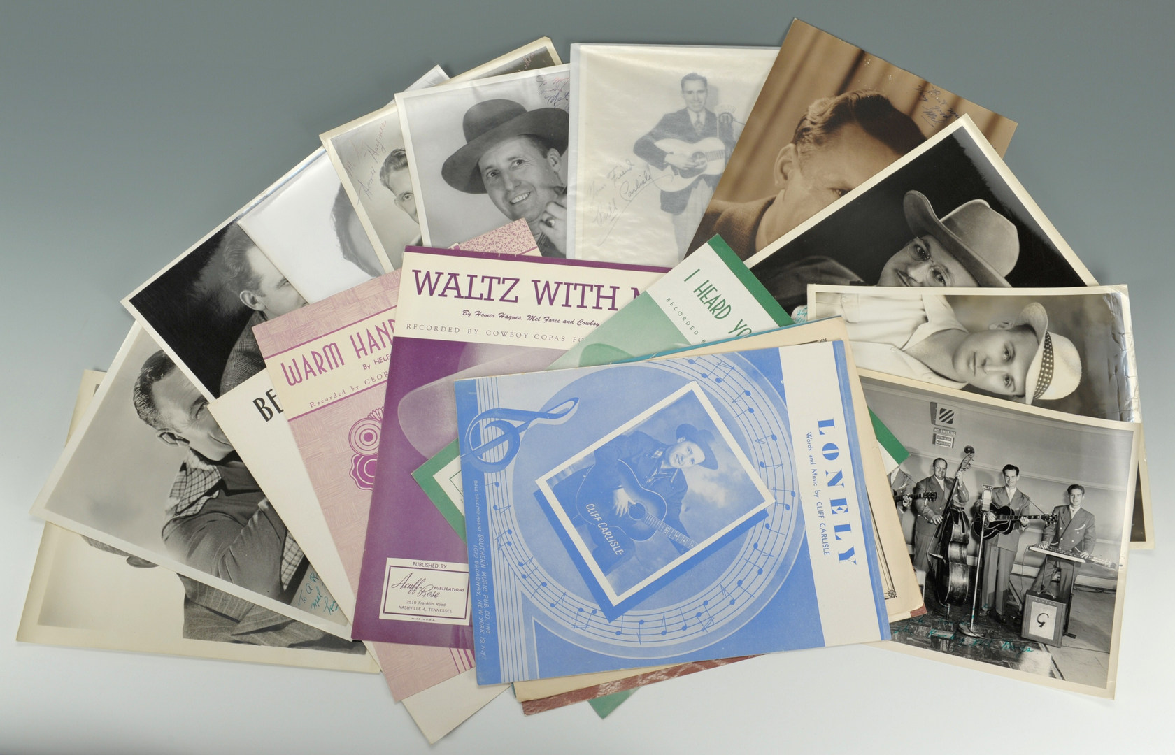 Lot 594: Country Music Photo & Sheet Music Collection
