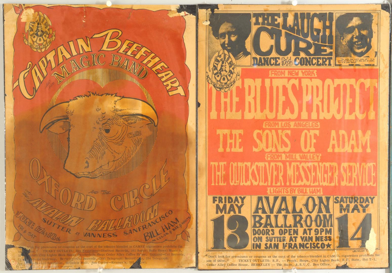 Lot 599: Six 1960s Era Concert Posters