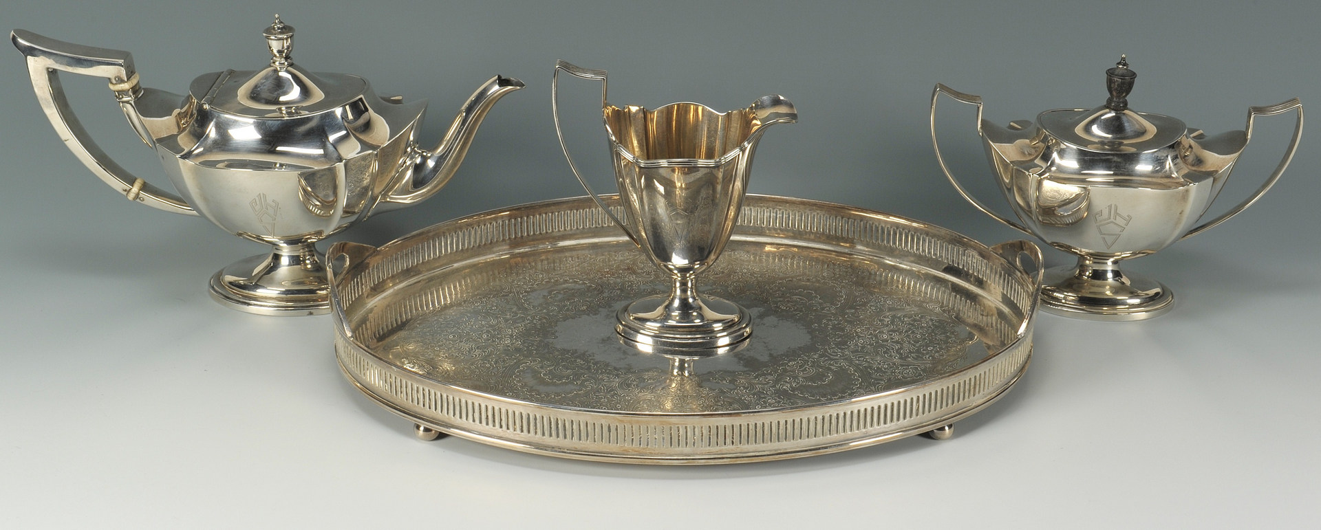 Lot 59: Gorham Plymouth Sterling Tea Service