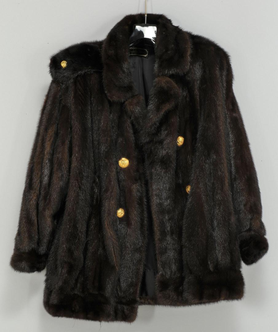 Lot 606: Vintage Christian Dior Mink Coat w/ Mink Hat