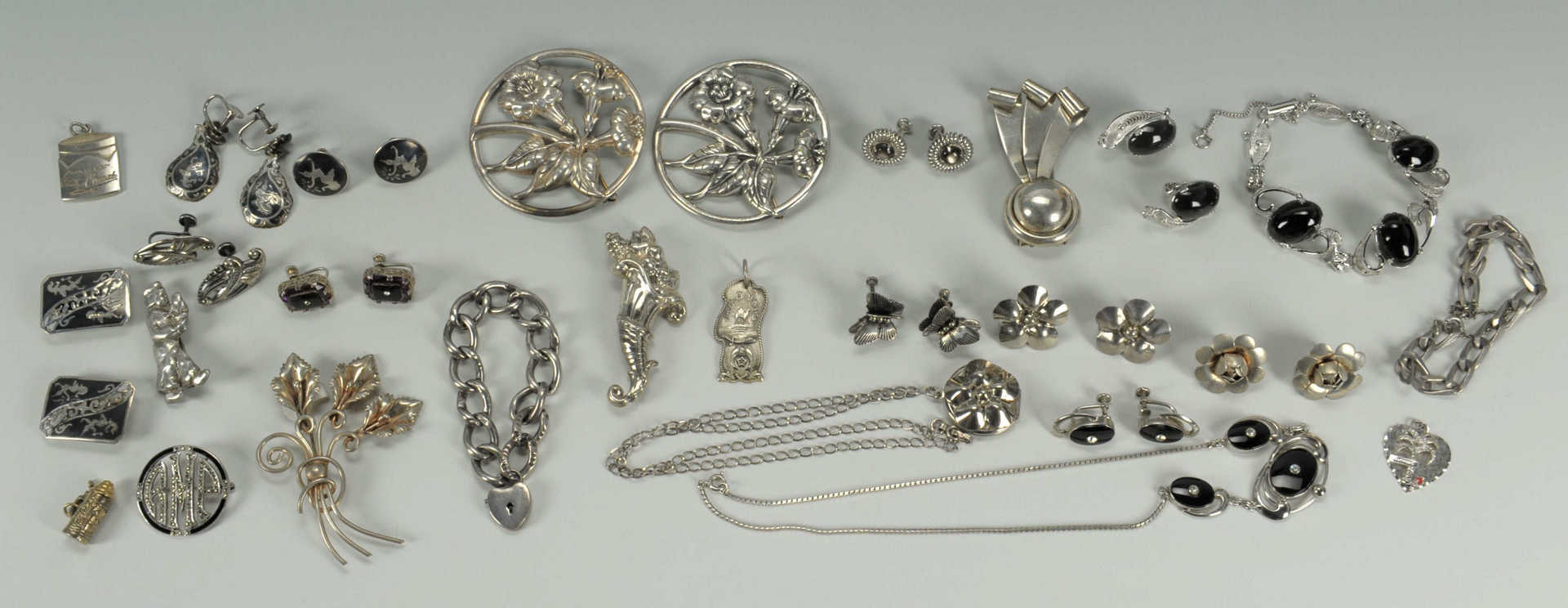 Lot 611: Large Group of Sterling and Costume Jewelry