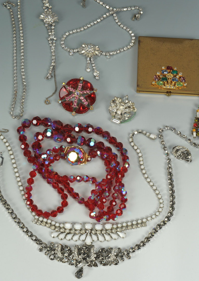 lot 614  costume jewelry incl eisenberg  weiss and 10k