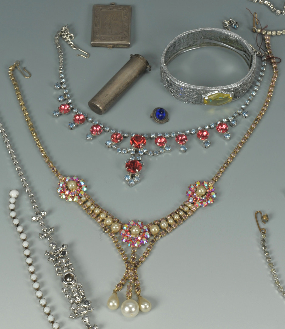 Lot 614: Costume Jewelry incl Eisenberg, Weiss and 10k