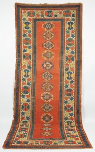Lot 615: Kazak Runner, Caucasian, early 20th c.