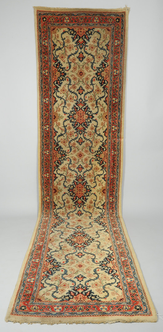 Lot 616: Sarouk runner, mid-20th century
