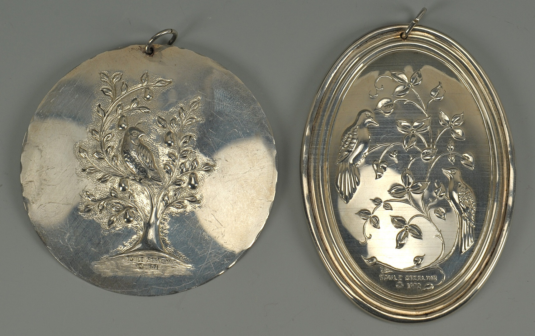 Lot 629: 26 Sterling Christmas Ornaments: Towle, R&B