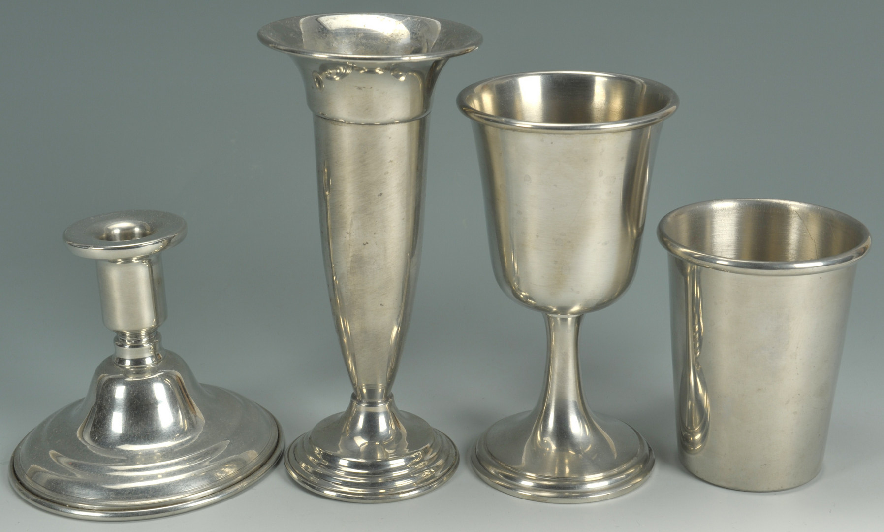 Lot 636: 19 pieces Steiff and Tennessee Pewter ware