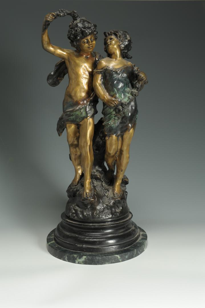 Lot 637: 4 Bronze Sculptures after Moreau and after Onu