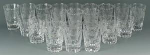 Lot 640: William Yeoward Crystal Glasses, Fern Pattern
