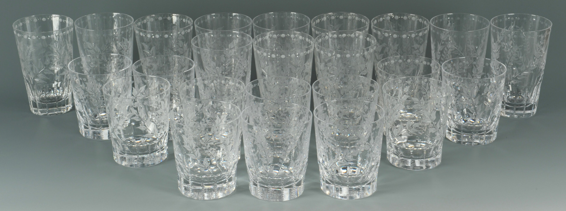 lot 640 william yeoward crystal glasses fern pattern