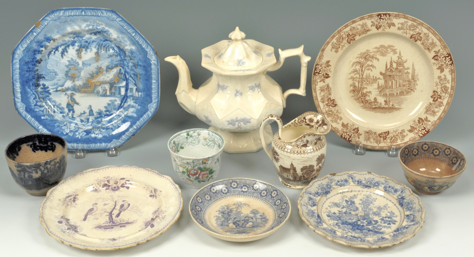 644: English Transferware incl. Brameld