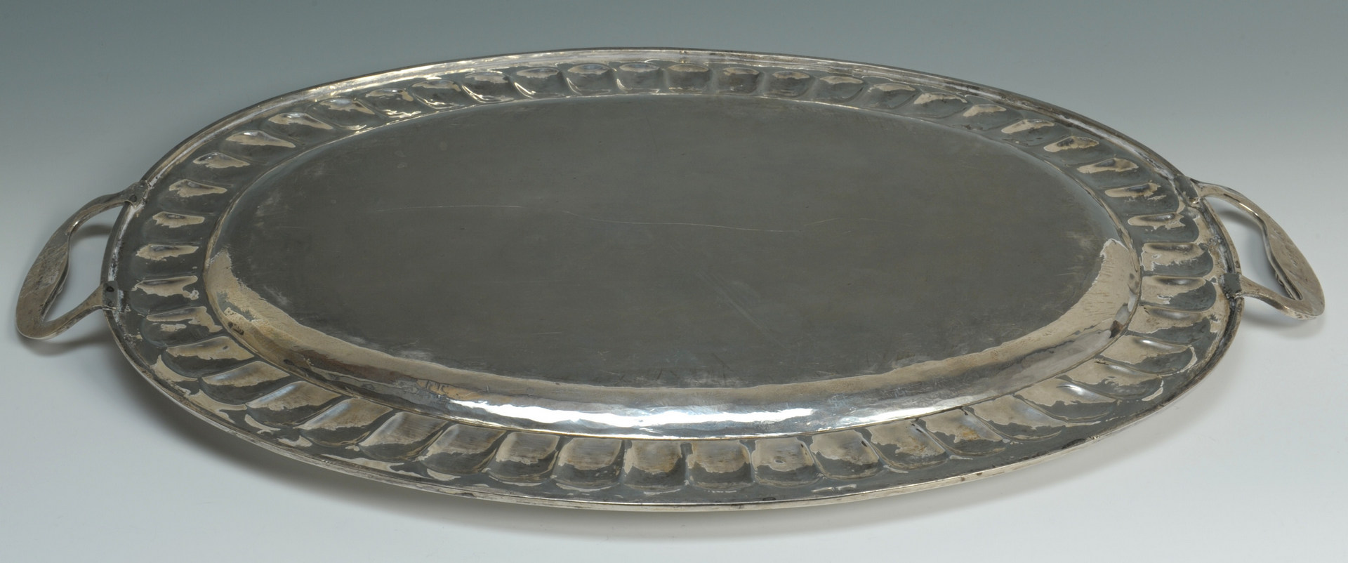 Lot 66: Mexican silver tea service and tray, 15 lbs
