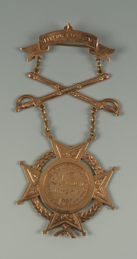 Lot 75: Howard Reserves (TN) Medal, 19th c., 10K