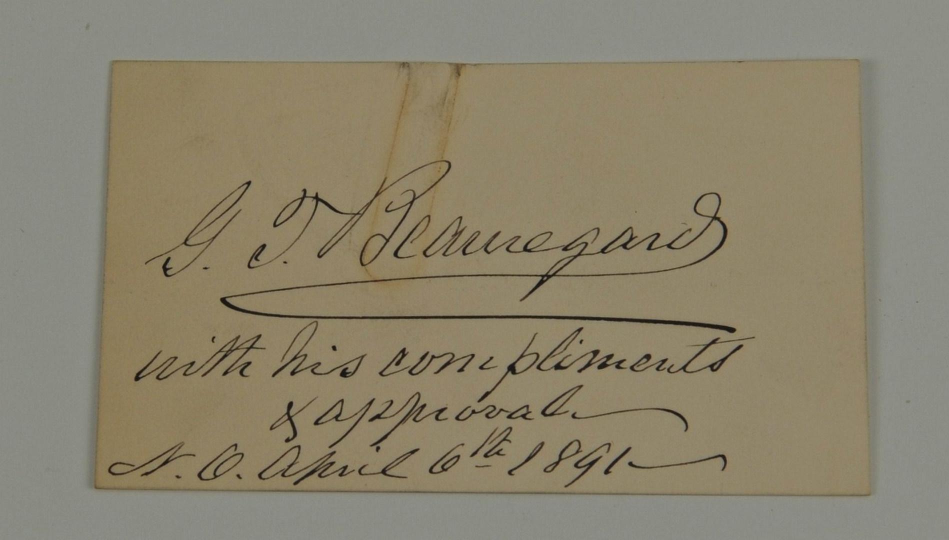 Lot 76: 3 General P. G. T. Beauregard Civil War Items
