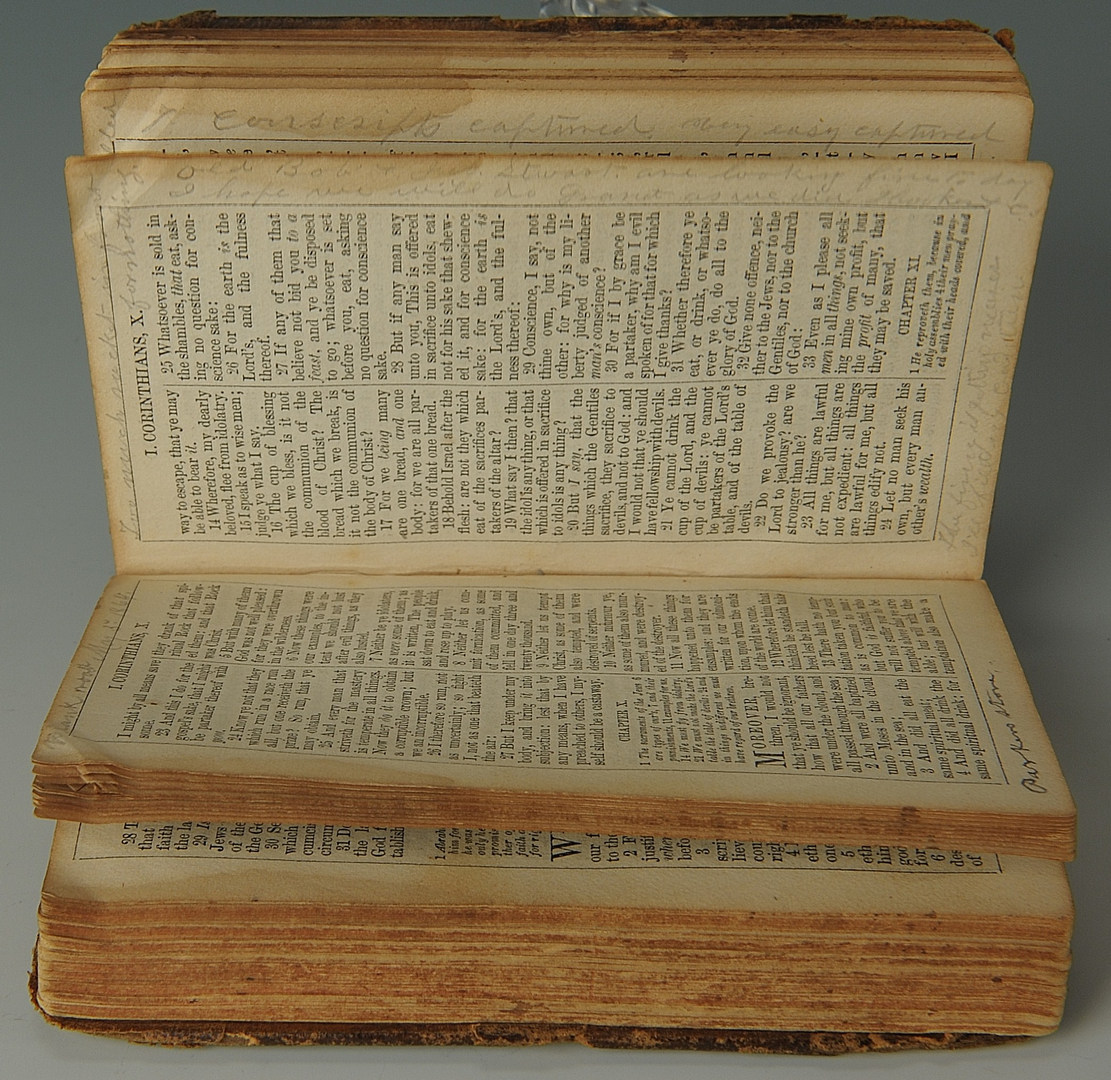 Lot 77: Confederate Soldier's Bible, 7th TN Company D
