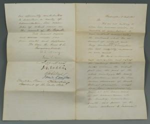 Lot 79: Pres. Pierce Cabinet Letter, signed Jefferson Davi