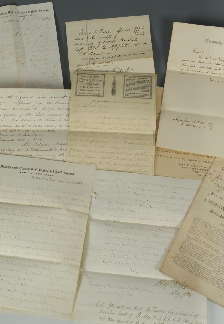 Lot 81: General Benjamin Butler Civil War Letter Archive