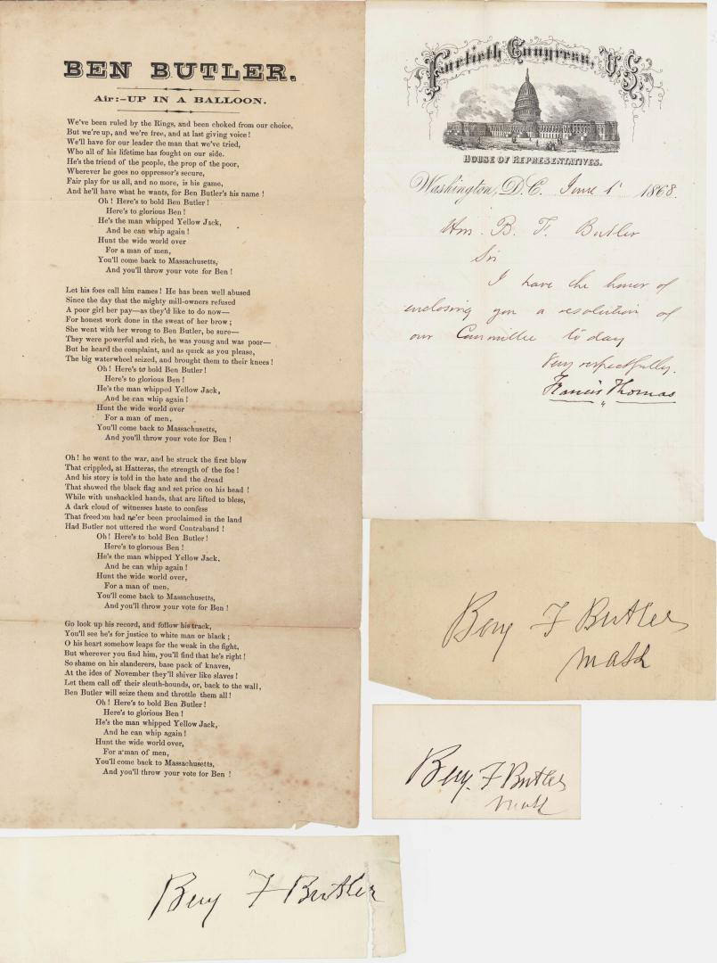 Lot 84: Lot of Gen. Butler Political Related Documents