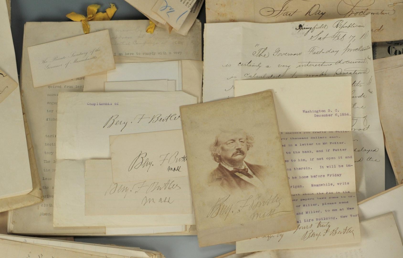 Lot 85: Lot of Gen. Benjamin Butler Governor Related Docum