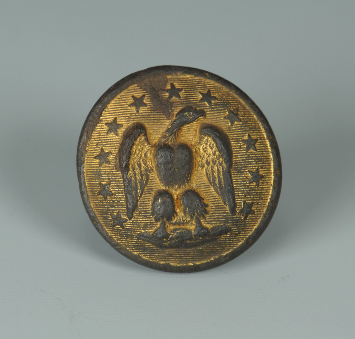 Lot 87: Excavated Confederate Staff Officer Button
