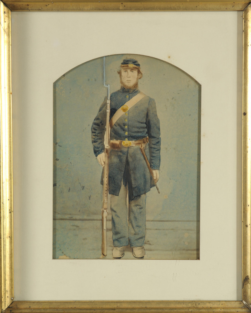 Lot 88: Civil War Albumen Photo of young Union Soldier
