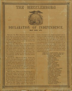 Lot 91: Mecklenburg NC Declaration of Independence Handbi