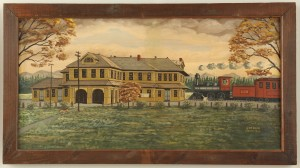 Lot 95: L&N Train Depot Oil on Canvas