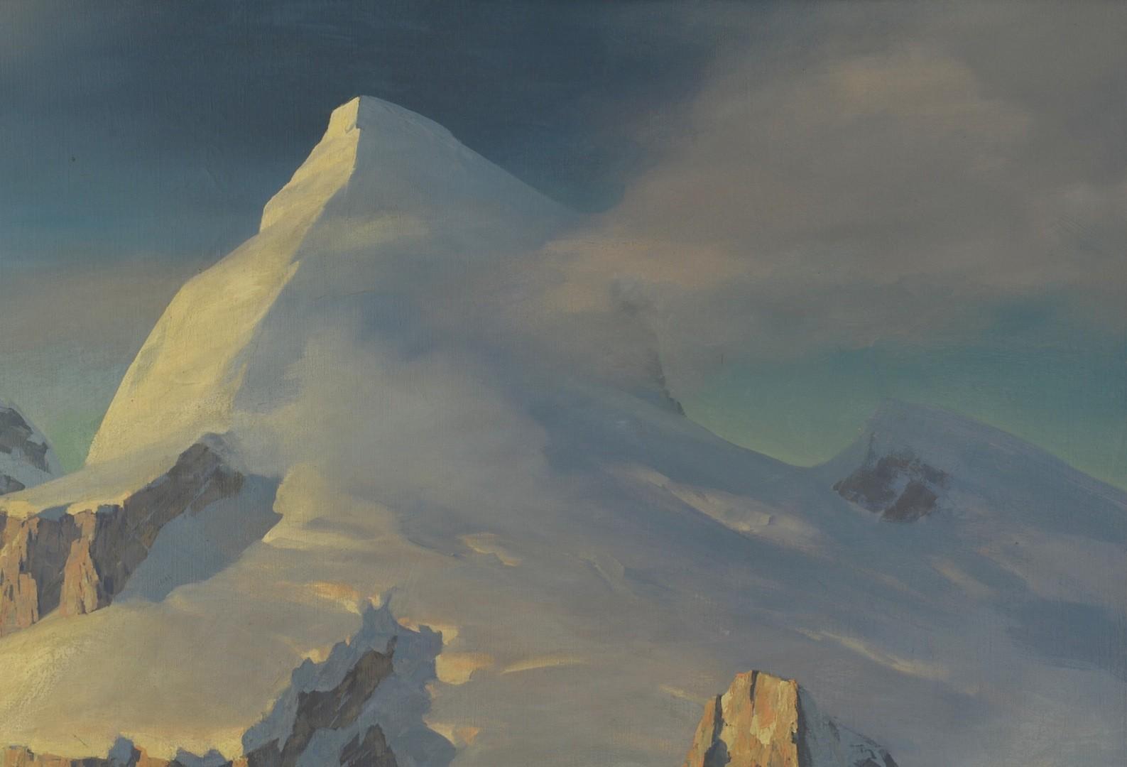 Lot __ Inv. #3988: Leland Curtis oil on canvas, Antarctic Scene