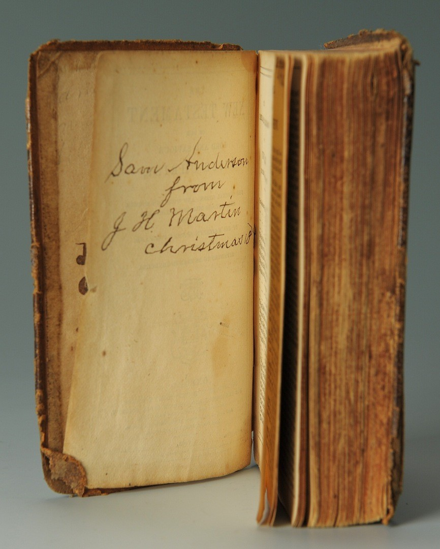 Lot __ Inv. #4218: Confederate Soldier's Bible, 7th TN Company D